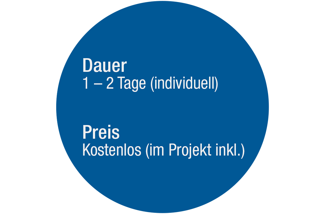 Schulung Projektsortiment